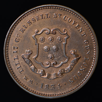 William Till Dealer Token (1834) - W. 3075.