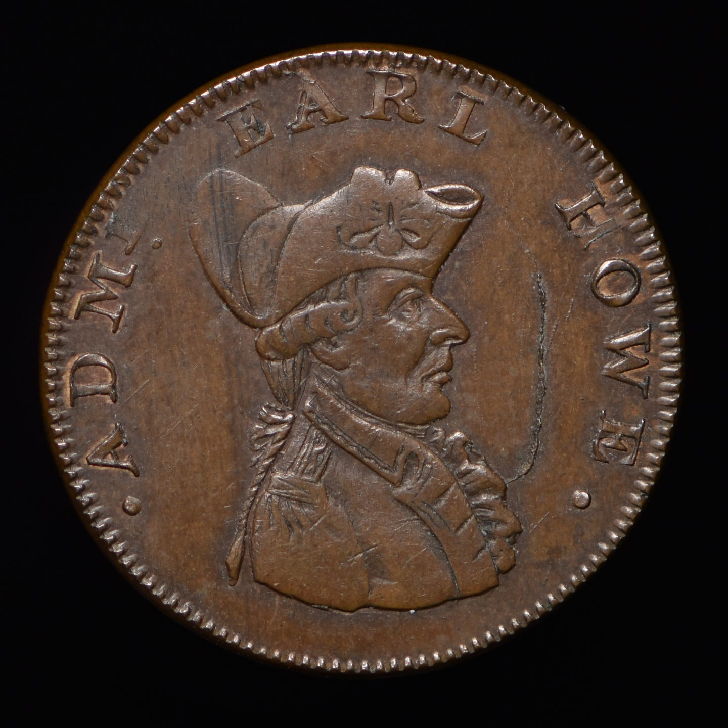 Hampshire D&H 102a Naval Farthing