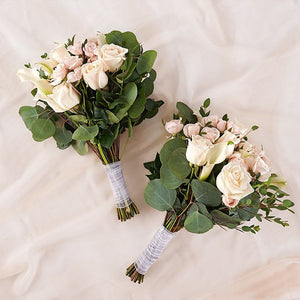 Romantic blush bouquets - bridesmaid