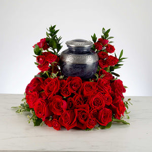 Solid heart red Urn holder