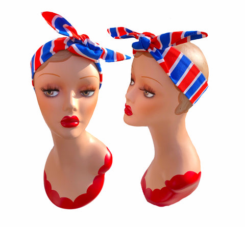 Retro Fairground Stripes Hair Tie. Full size.