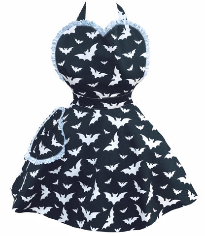 Bombshell Batty Womens Sweetheart Apron
