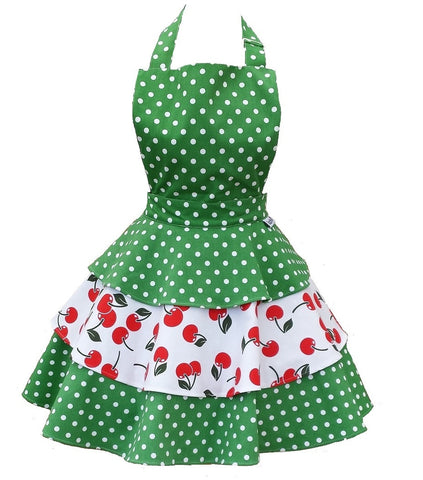 Cherry Bakes Well Womens Rara Apron