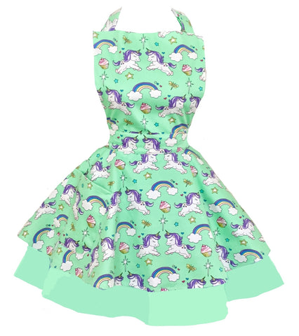 Cupcake Heaven Womens Unicorn Apron