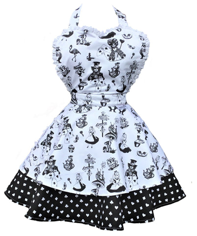 Alice in Wonderland Double Skirt Womens Sweetheart Apron