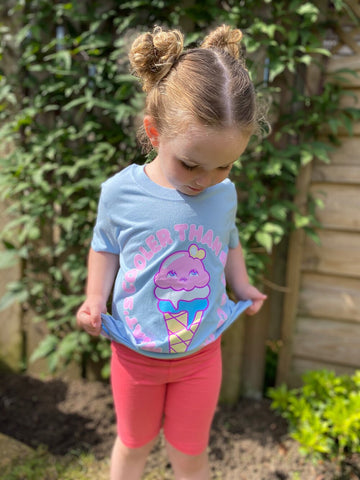 Kawaii Icecream Children's T Shirt Molly Robbins Kawaii Collection Collab