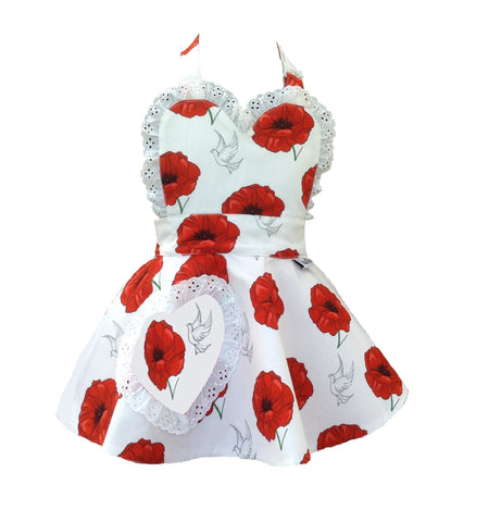 Little Miss SundayGirl Poppies Children's Apron