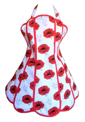 Poppies Womens Panel Apron