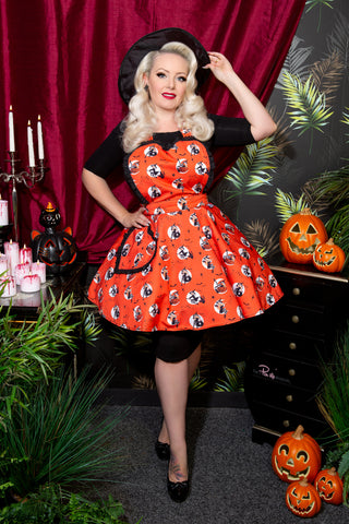 Bewitched Pin Up Witches Halloween Apron