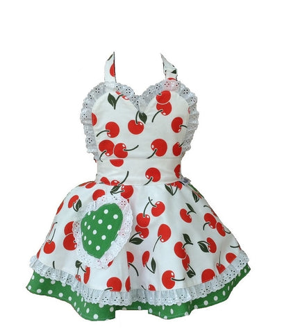 Little Miss SundayGirl Cherry Bakes Well Children's Apron