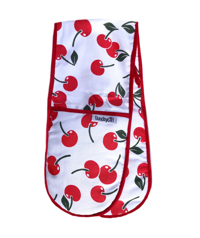 Retro cherry oven gloves