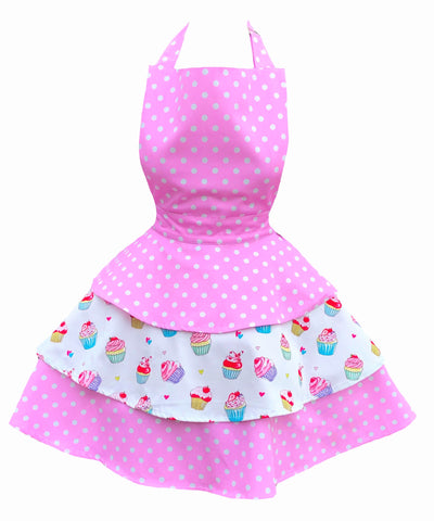 **Pre Order** Just Dotty about Cupcakes Rara Womens Apron