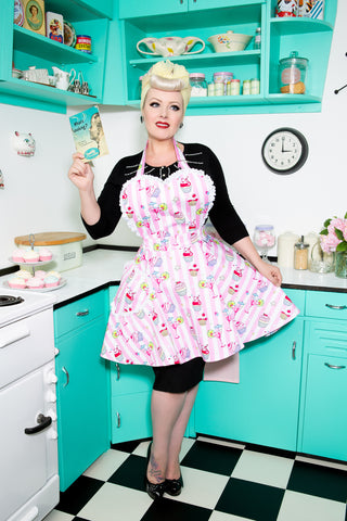 Cupcakes and Cocktails Womens Sweetheart Apron