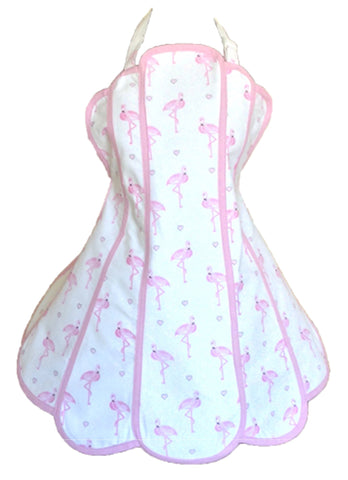 Pretty Flamingo Womens Panel Apron