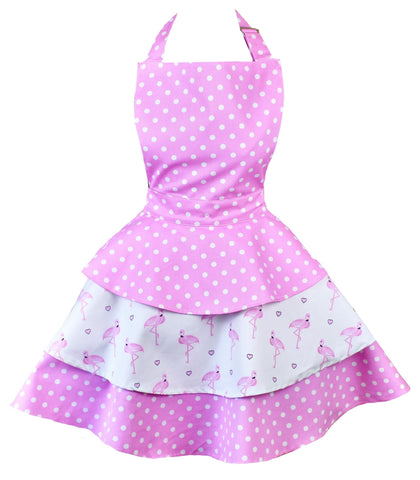 Sale. Pretty Flamingo Womens Rara Apron