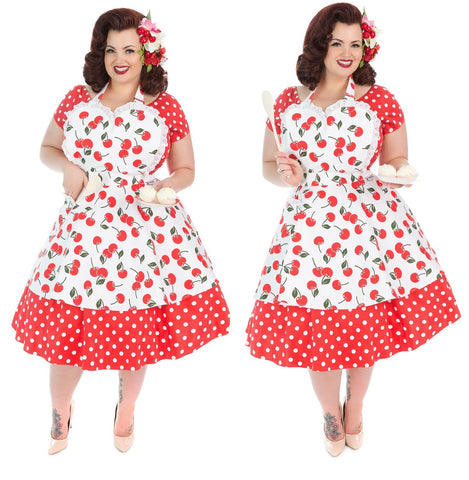 Cherry Bakes Well Womens Sweetheart Apron