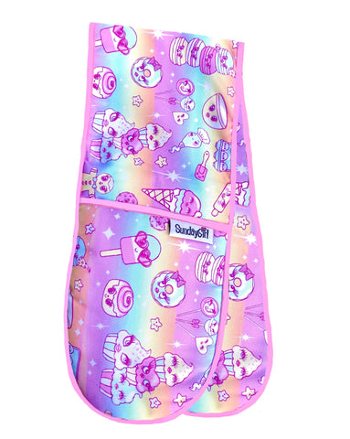 Pastel Rainbow Kawaii Oven Gloves