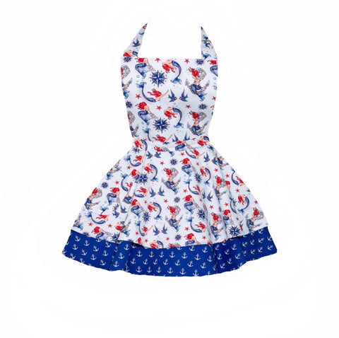 Nautical mermaid children's apron
