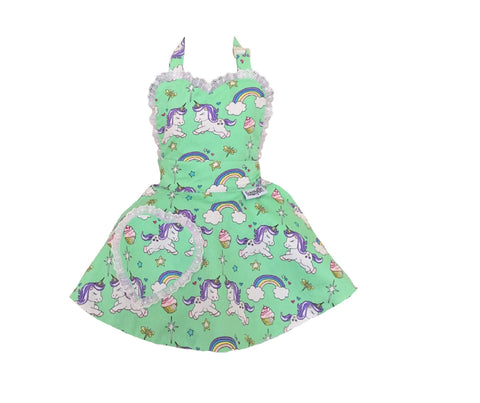 Sale. Cupcake Heaven Unicorn Children's Apron