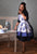 Beautiful Blue French Toile Retro Sweetheart Apron