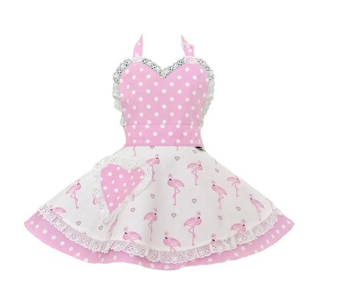 Little Miss SundayGirl Pretty Flamingo Children's Apron
