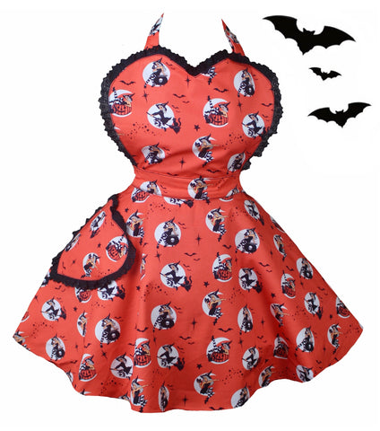 Pin up Witches Apron. Bewitched Apron
