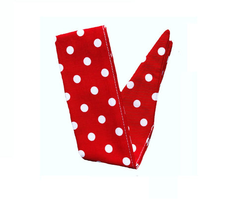Deliciously Dotty Retro Red Hair Tie. Full size.