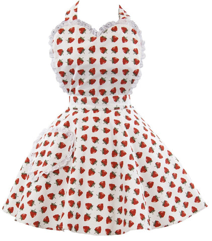 So Berry Sweet Womens Sweetheart Apron
