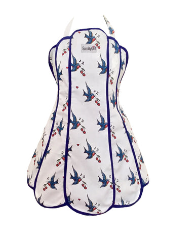 *Sample Sale* Tweet, Drink and Be Merry Swallows Womens Panel Apron