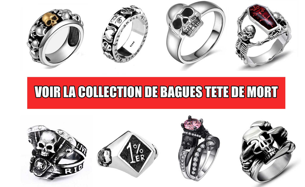 collection bague tete de mort