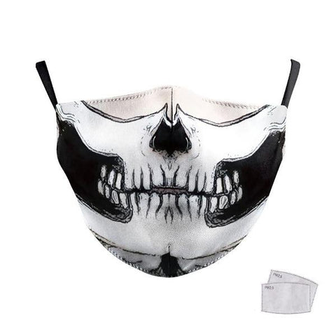 Masque de Protection Skull Blanc | Crâne Nation