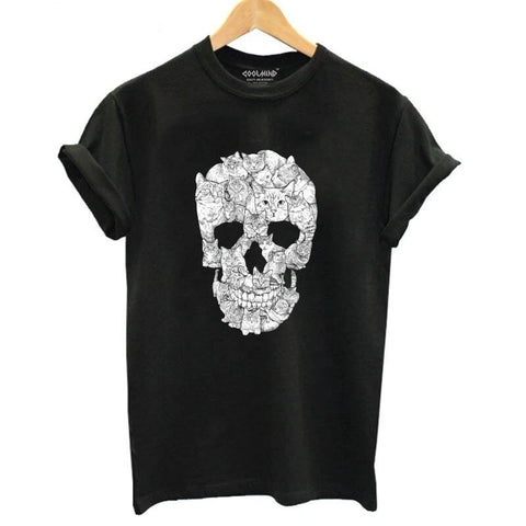 T-shirt Cat Skull | Crâne Nation