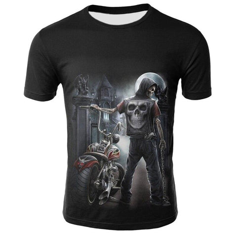 Tee shirt Motard Biker | Crâne Nation