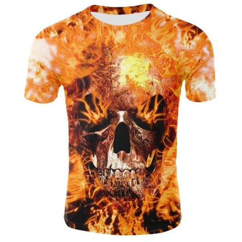 T-shirt Skull Flamme | Crâne Nation