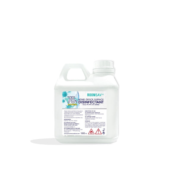 ROOMSAV 75% Surface Disinfectant for Home & Office Sanitizer 1L & 5L