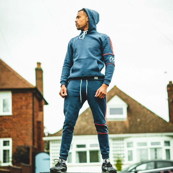 Otelli Homegrown Navy/Red Tracksuit