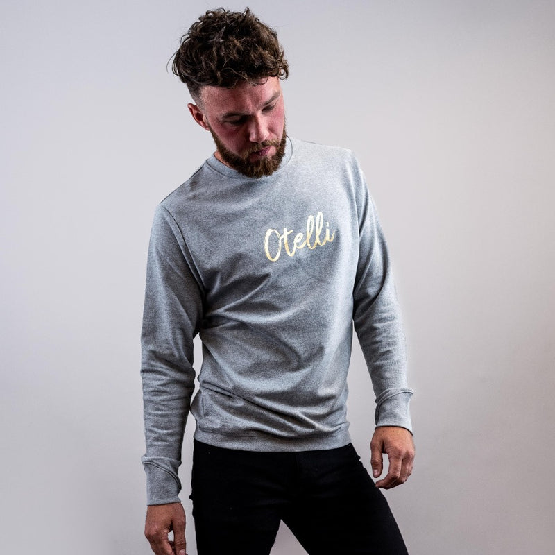 Otelli Specialé Grey/Gold Jumper Sweatshirt