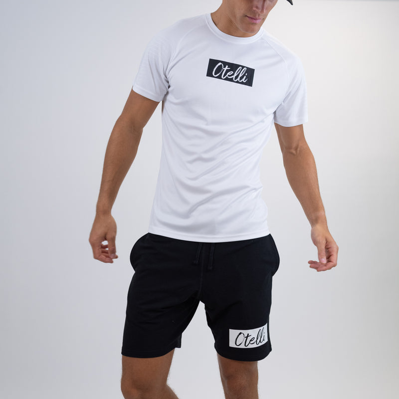 Otelli Premium Black/White Jog Shorts