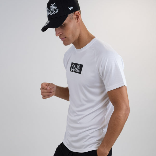 Otelli Inverted White/Black Activewear T-Shirt
