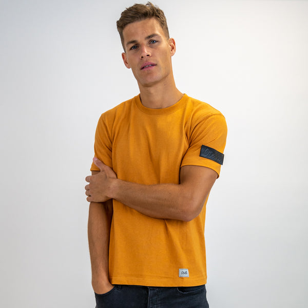 Otelli Custom Mustard/Black Badge T-Shirt