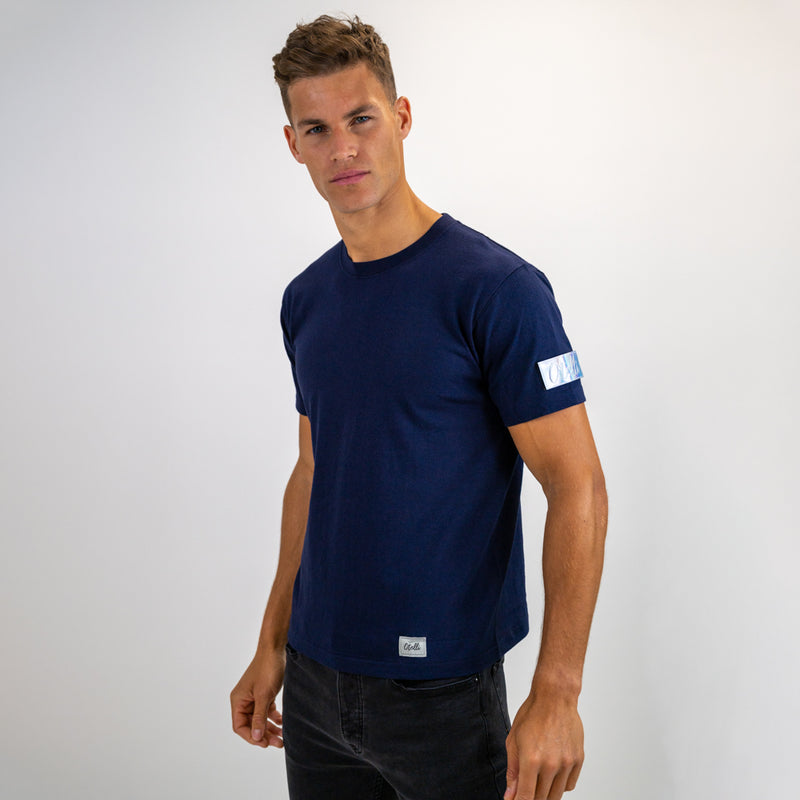 Otelli Custom Navy/Iridescent Badge T-Shirt