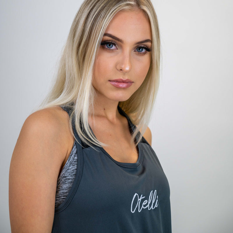 Otelli Progression Grey/Black Activewear Vest