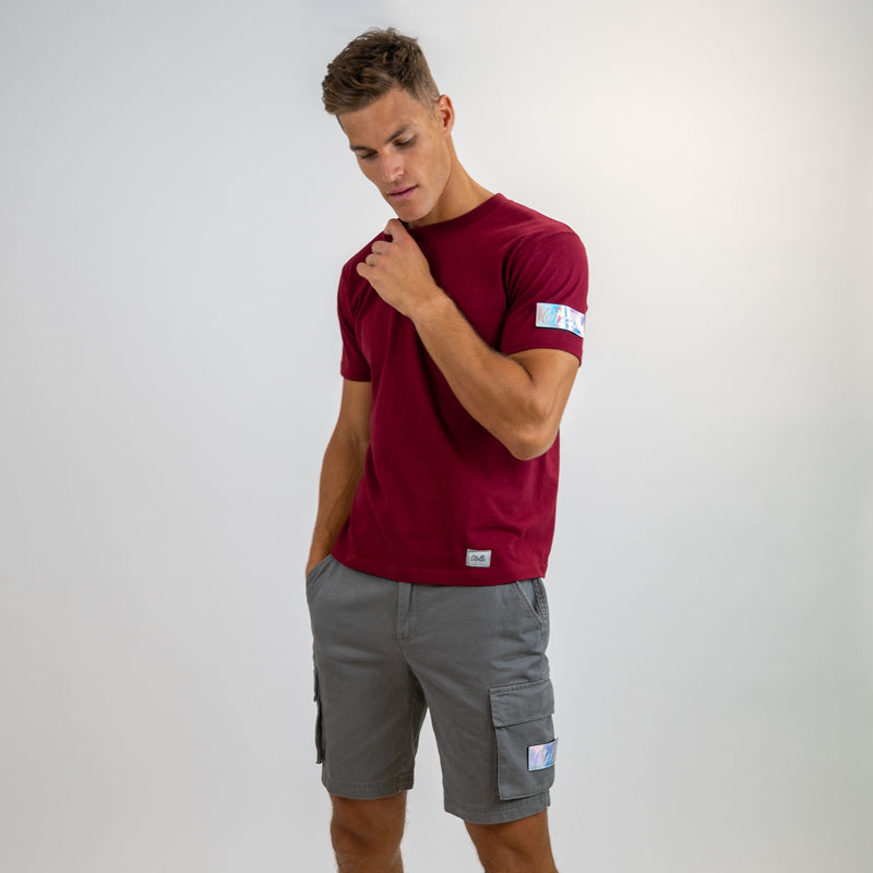 Otelli Custom Slate Grey/Iridescent Badge Cargo Shorts