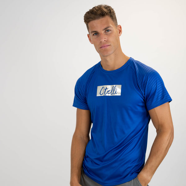 Otelli Progression Royal Blue/Metallic Activewear T-Shirt