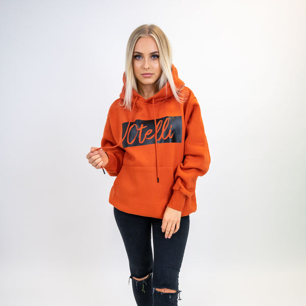 Otelli Premium Burnt Orange/Black Hoodie
