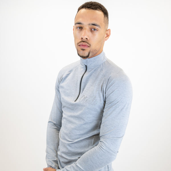 Otelli Progression Grey/Reflective Activewear Half Zip Top