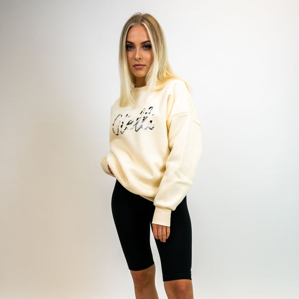 Otelli Cream Dream/Camo Logo Jumper Sweatshirt