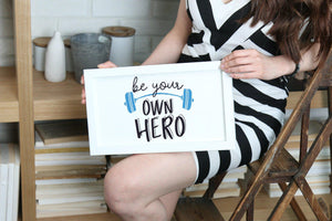 Be Your Own Hero Print-Prints-Studio Rebecca