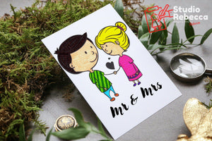 Mr & Mrs. Couple Print-Prints-Studio Rebecca