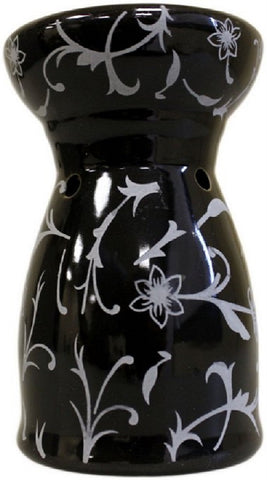 Black Pattern Oil Burner